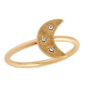 NWOT Madewell Spaced Out Moon Ring Size 5